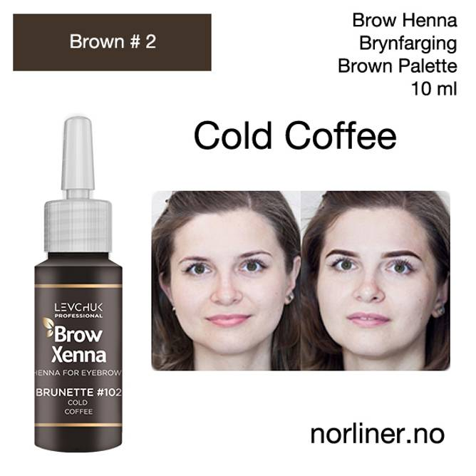 Bilde av LB-BH BROW XENNA Brown #2(102) Cold Coffee 10ml