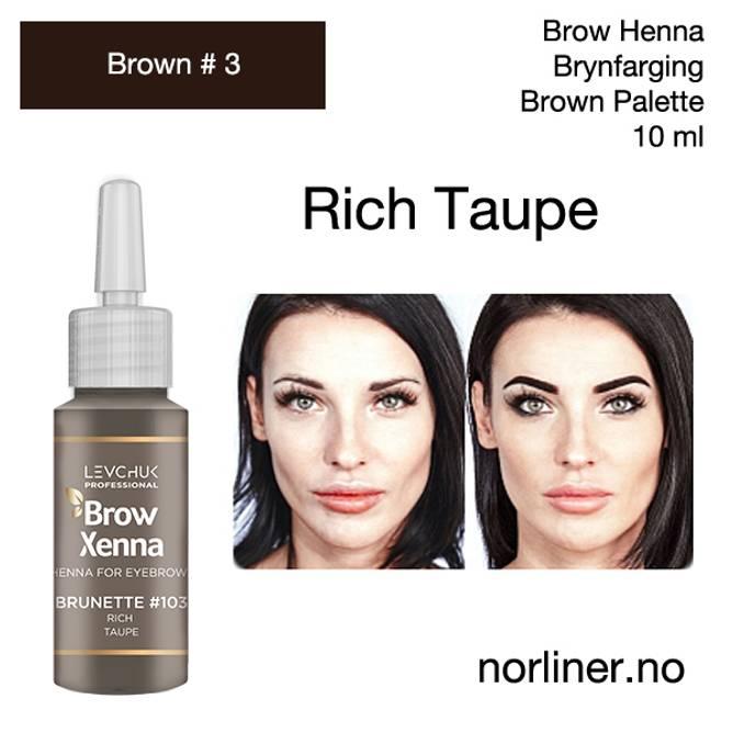 Bilde av LB-BH BROW XENNA Brown #3(103) Rich Taupe/Brown