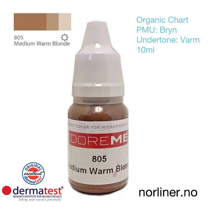 Bilde av MT-DOREME #805 Medium Warm Blonde PMU Bryn