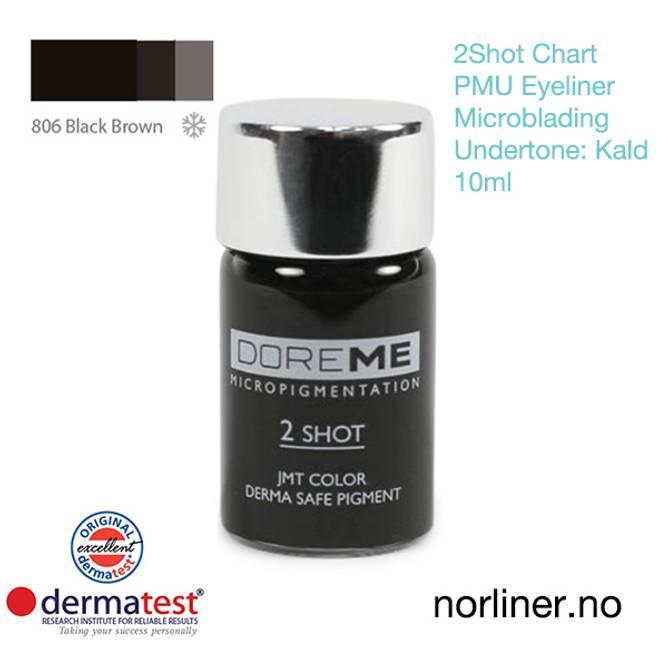 Bilde av MT-DOREME #806 Black Brown PMU Eyel.&Microbl.