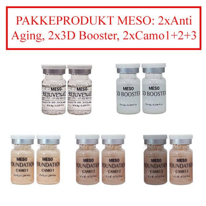 Bilde av PAKKE m/15% Rabatt MT-MESO: 2x2 Serum+2x3Camo
