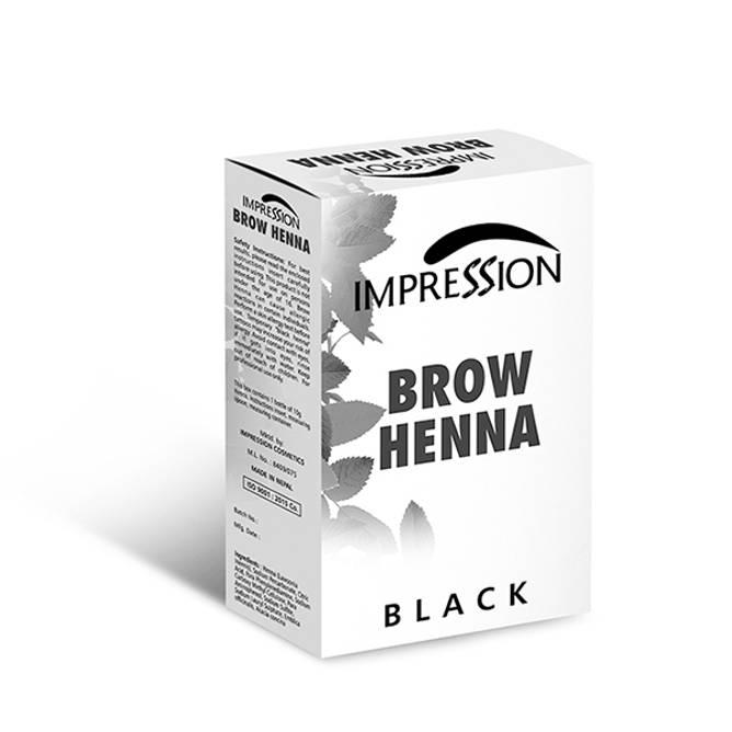 Bilde av NL-IMPRESSION BROW HENNA Pulver Sort 10g