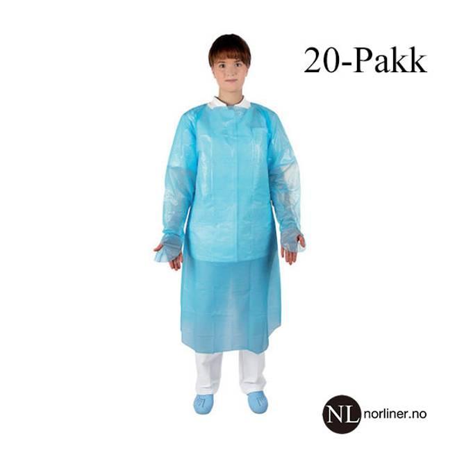 Bilde av MQ-Plastforkle Klinion polyetylen m/erm 98x120cm