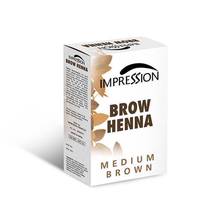 Bilde av NL-IMPRESSION BROW HENNA Pulver Brun Medium 10g