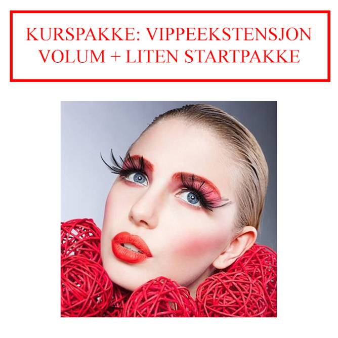 Bilde av KURSPAKKE: VIPPEEKSTENSJON VOLUM + LITEN