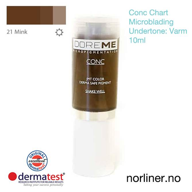 Bilde av MT-DOREME #21 Mink til Microblading [Conc Chart]
