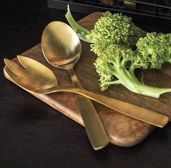 Bilde av Salatbestikk 2 deler gull
