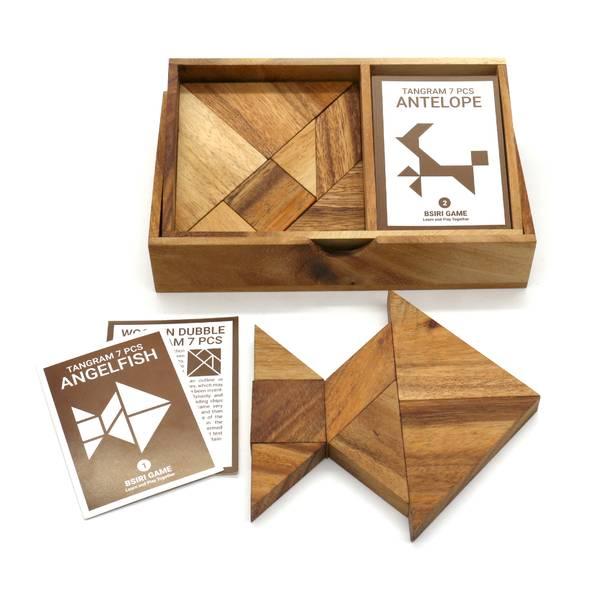 Bilde av Dobbel tangram med kort IQ-nøtt