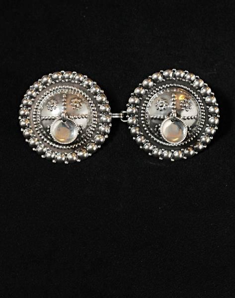 Bilde av Borespenne til bunad - oksidert sølv - 17765