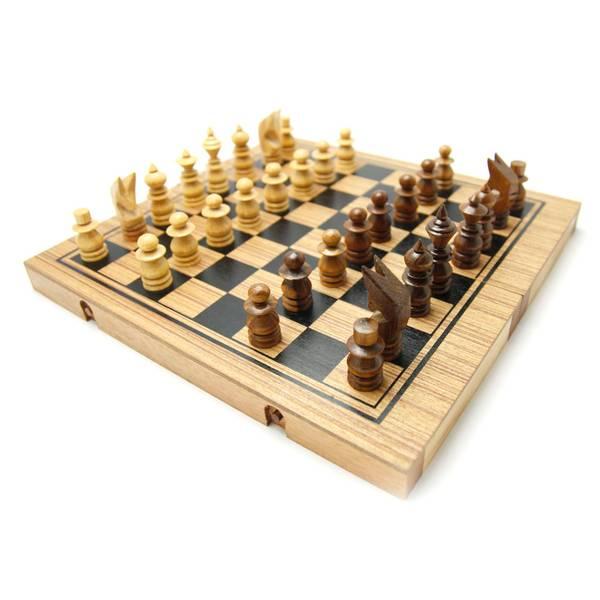 Bilde av 3 i 1 sjakkbrett, dam og backgammon