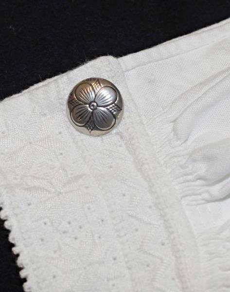 Bilde av Mansjettknapp til bunad, oksidert sølv - 22000