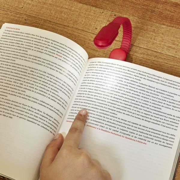Bilde av Oppladbar boklampe clip, rød