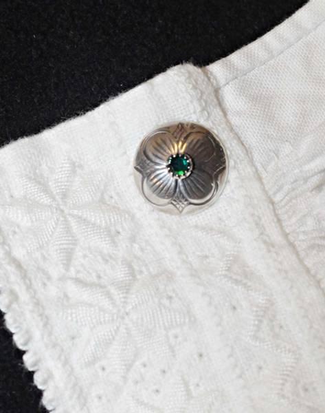 Bilde av Mansjettknapp oksidert sølv med valgfri sten - 22001