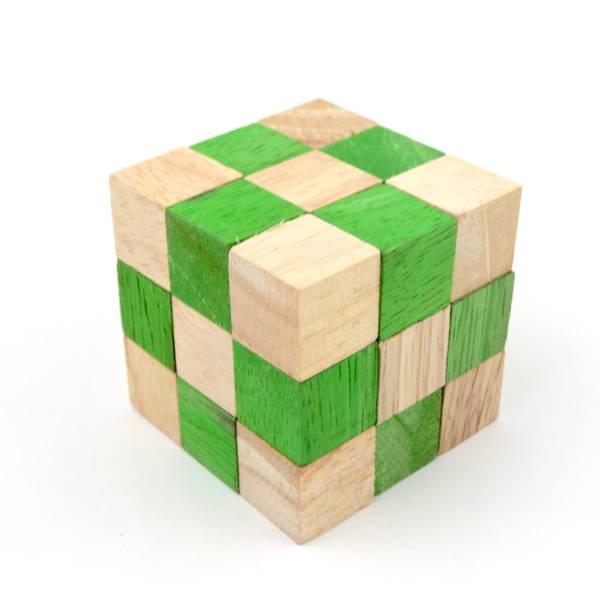 Bilde av Grønn mamba slange kube IQ-nøtt