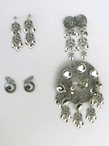 Bilde av Sølvpakke i oksidert sølv - Mellomstor sølje