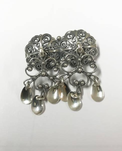 Bilde av Halsknapp i oksidert sølv - 12210