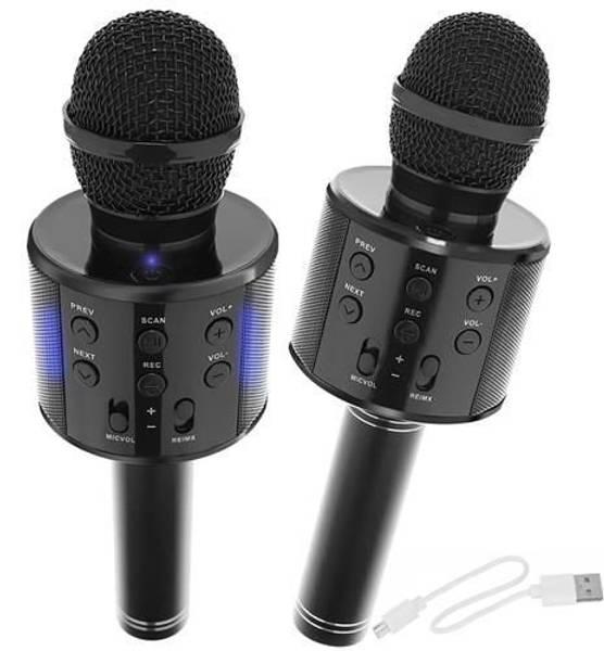 Bilde av Mikrofon med trådløs høyttaler sort