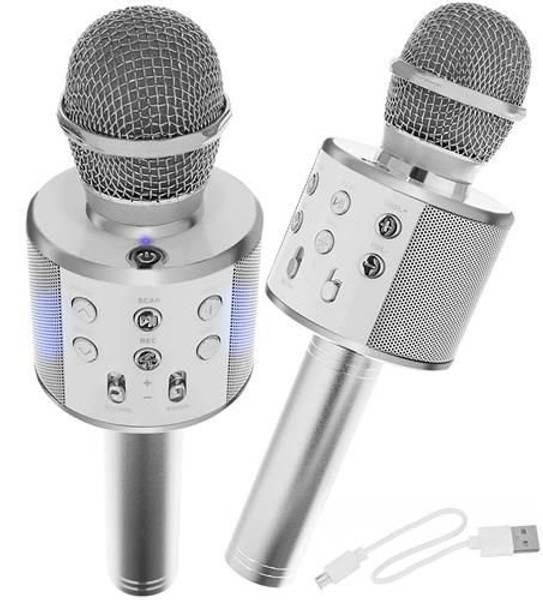 Bilde av Mikrofon med trådløs høyttaler Sølv