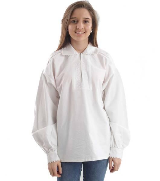 Bilde av Blomsterdalen bunadskjorte - hvite broderier