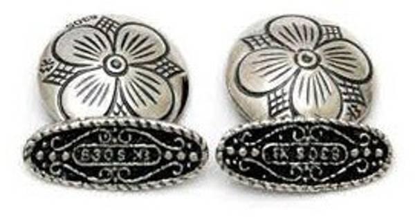 Bilde av Mansjettknapp i oksidert sølv - 22002