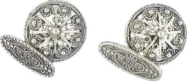 Bilde av Mansjettknapper i oksidert sølv- 22016