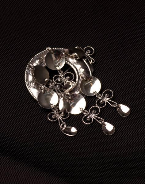 Bilde av Barnesølje med løv i oksidert sølv - Bunadsølv - 66007