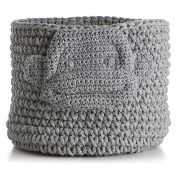 Bilde av Kurv strikket grå