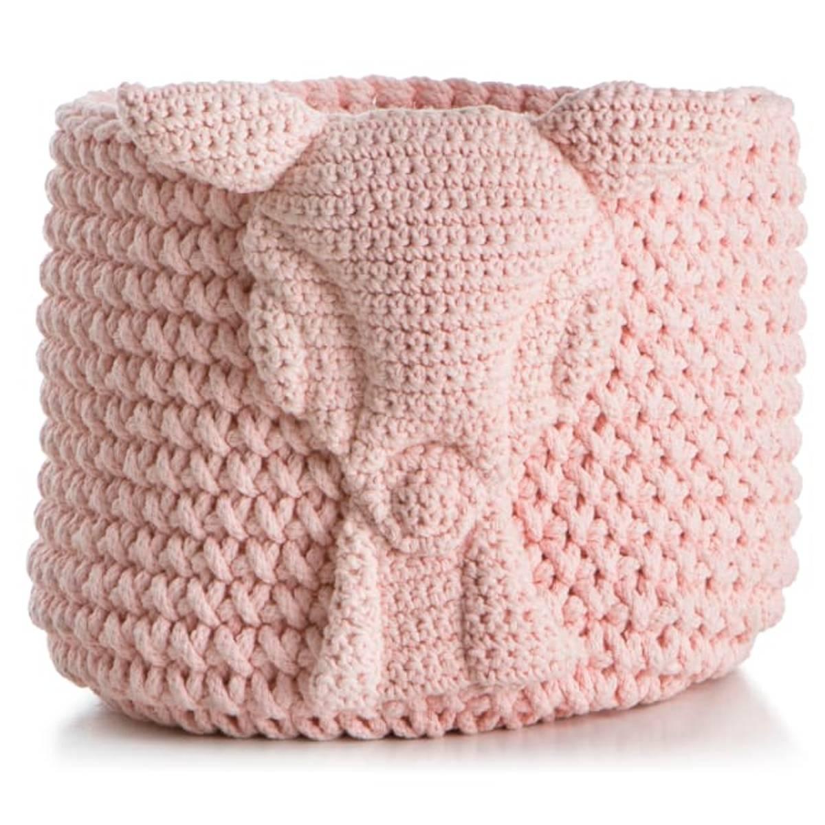 Kurv strikket rosa