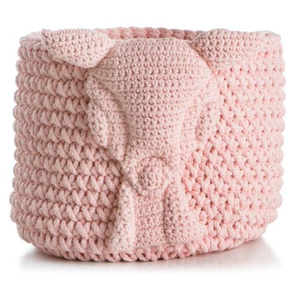 Bilde av Kurv strikket rosa