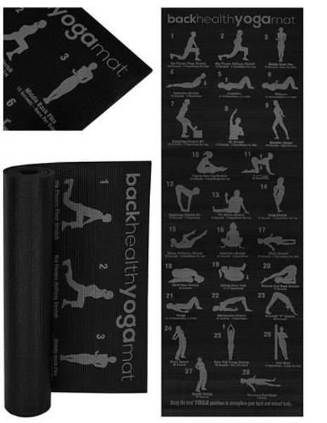 Bilde av Yogamatte med øvelsersplan