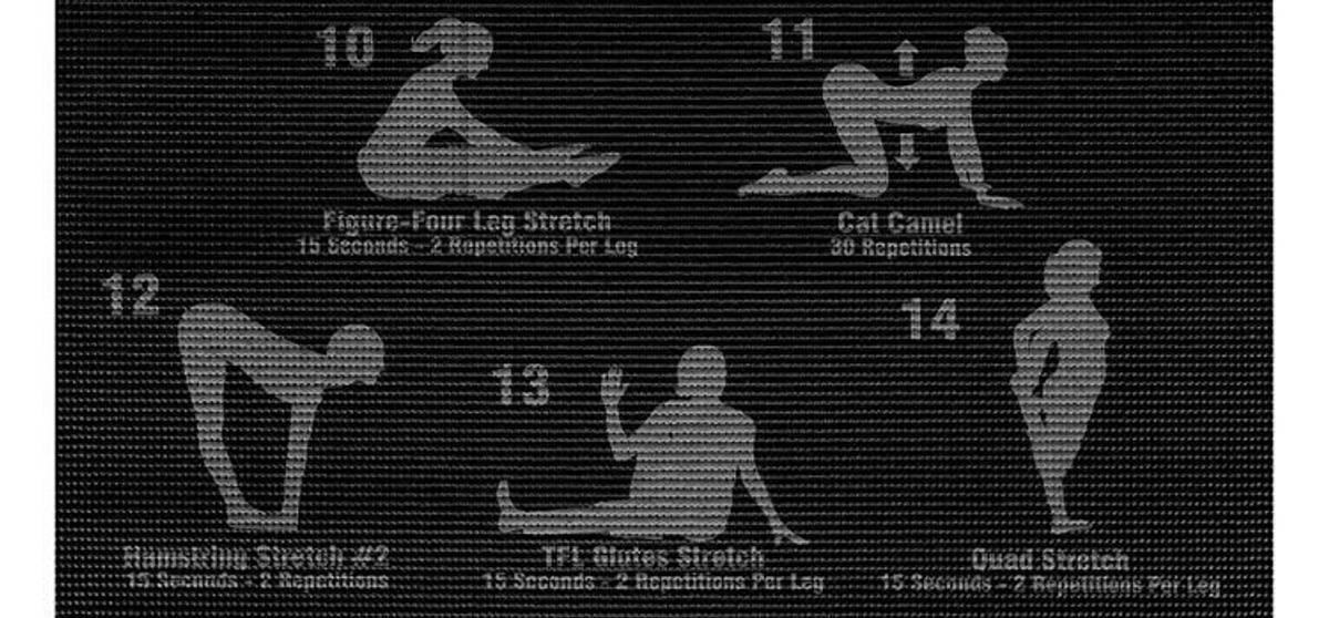 Yogamatte med øvelsersplan