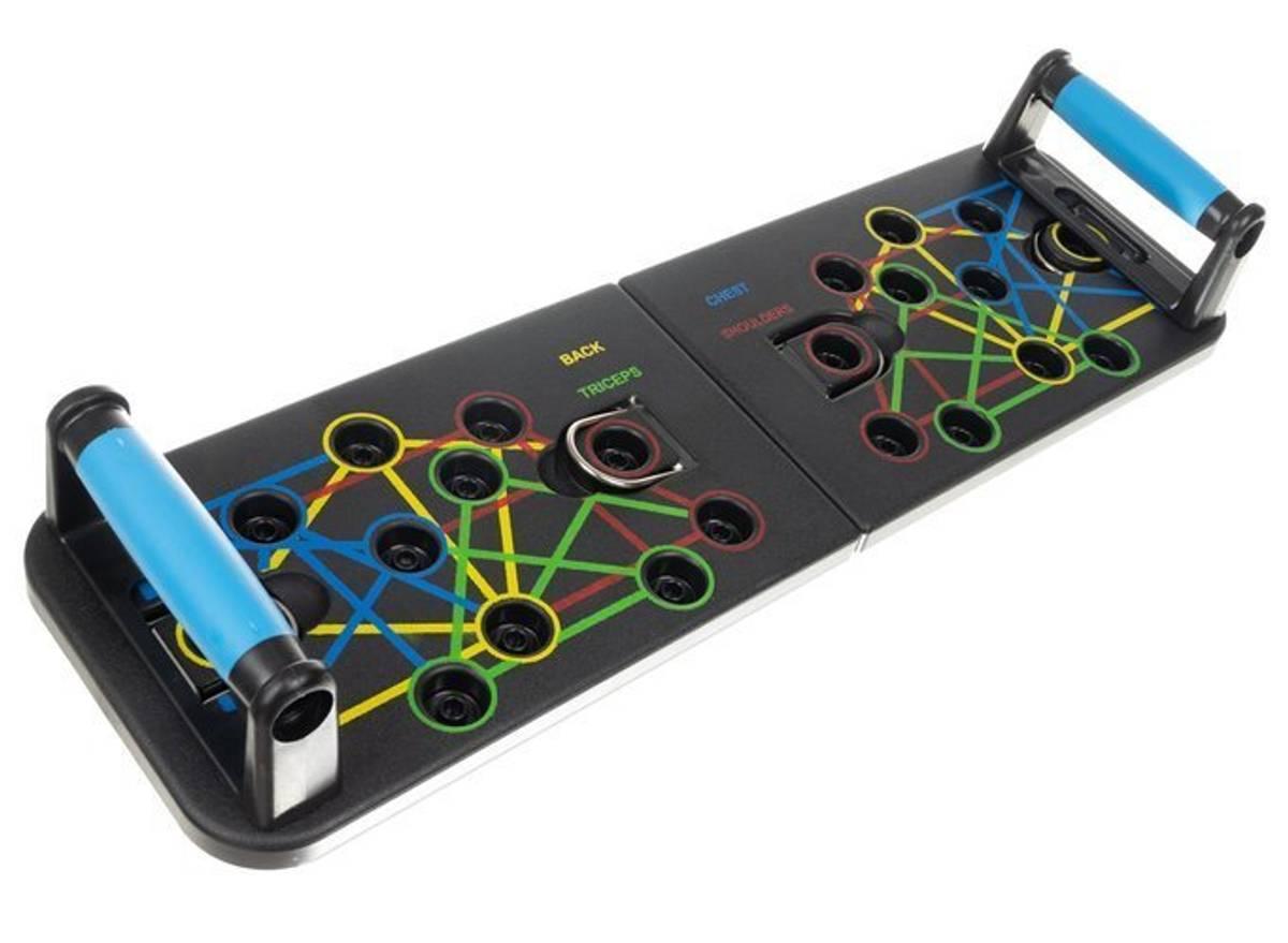 Push-up brett med elastiske stropper