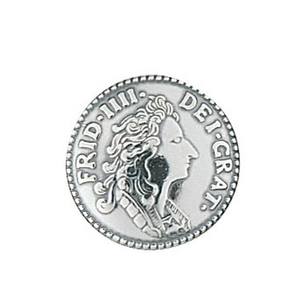 Bilde av Liten mynt bunadsknapp for vest Fana bunad