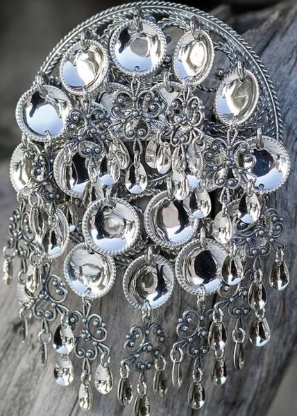 Bilde av Storsølje i oksidert sølv - Bunadssølv - 15516