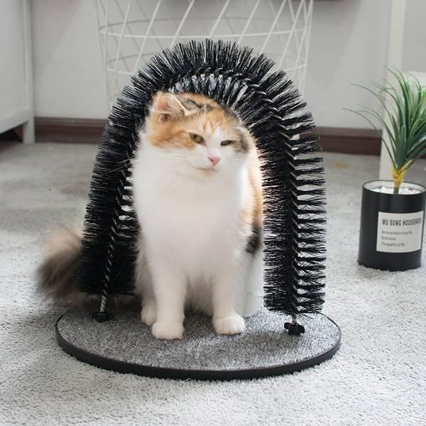 Bilde av Klø og børstebue stativ for katter