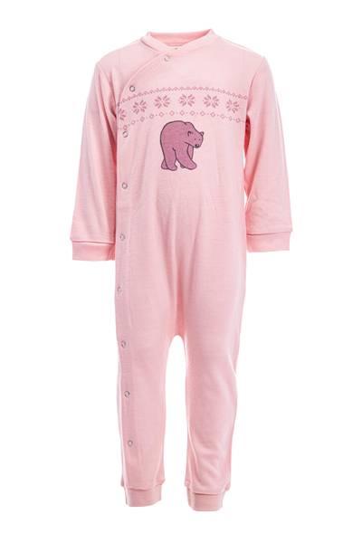 Bilde av Ullpyjamas til baby i lys rosa - 100% merinoull