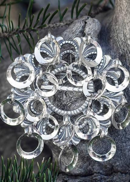 Bilde av Storsølje i oksidert sølv - Bunadsølv - 15530
