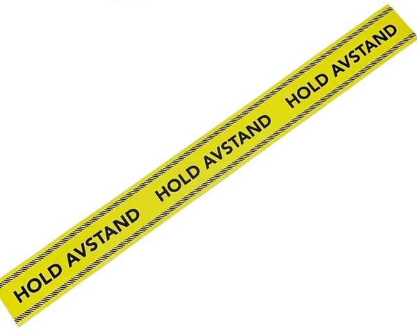 Bilde av Gulvmerke Hold Avstand 100 x 10 cm farge gul/rød