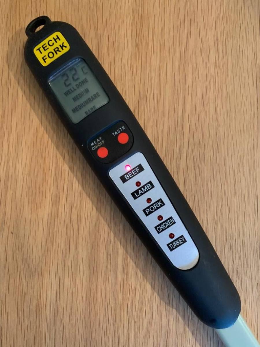 Stekegaffel med termometer