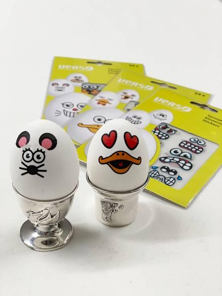 Bilde av Klistremerker / dekor til egg assortert mønster - 24 stk