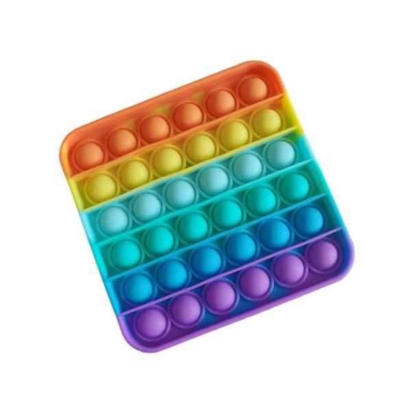 Bilde av Pop it Fidget Rainbow - Firkant