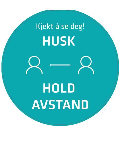 Bilde av Gulvmerke Hold Avstand rund Ø40 cm