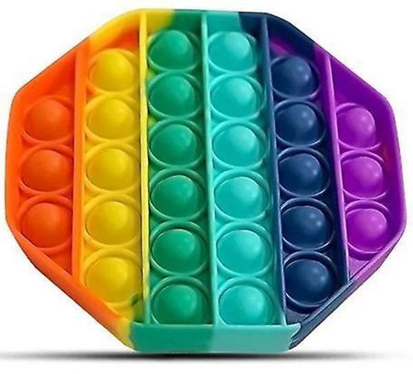 Bilde av Pop it Fidget Rainbow - Åttekant