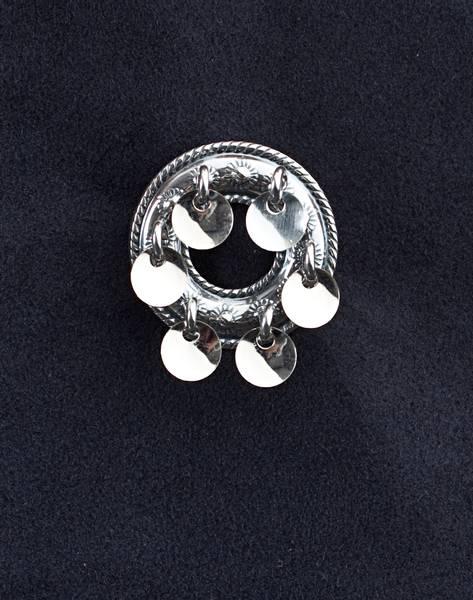 Bilde av Barnesølje med løv i oksidert sølv - 66009