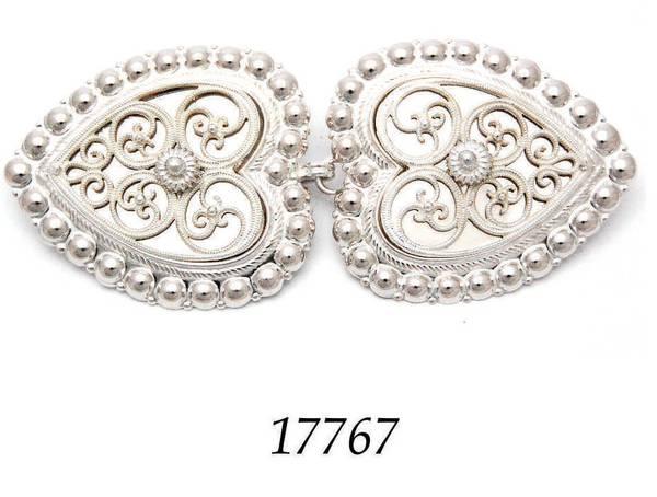 Bilde av Spenner til cape i hvitt sølv -Valgfri sten - 17763