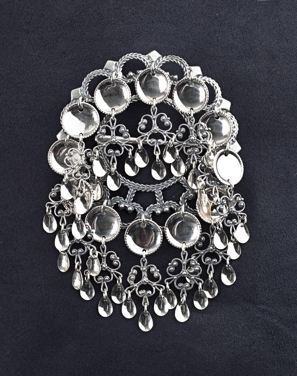 Storsølje i oksidert sølv - Bunadsølv - 15500
