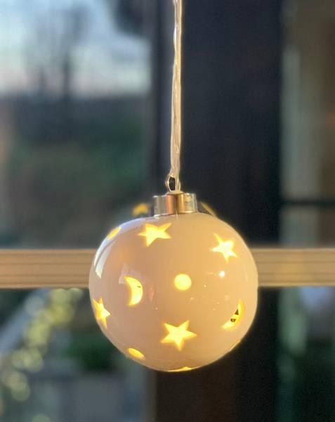Bilde av Keramikkule med LED lys - Batteri
