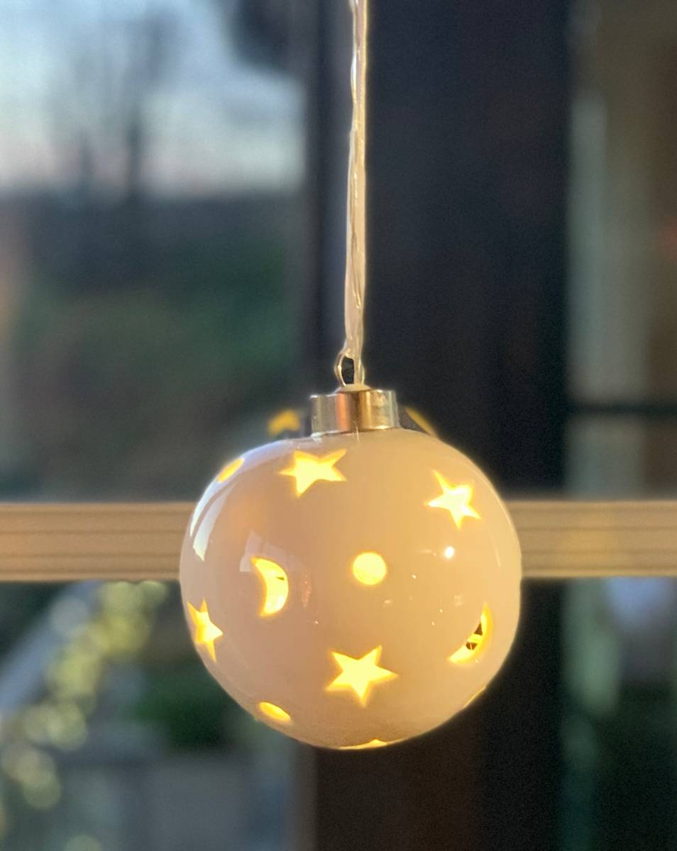 Keramikkule med LED lys - Batteri