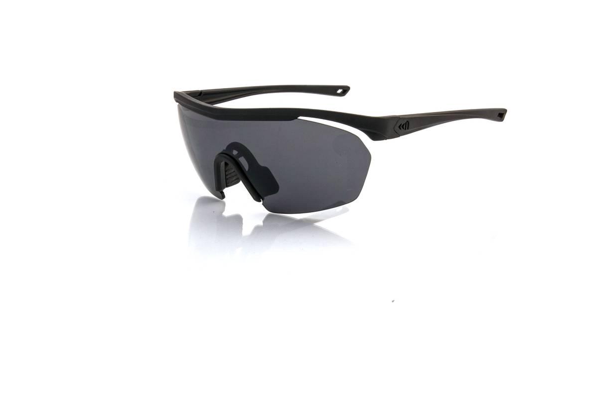 SUPERLEGGERO MASK solbriller - matt black med silver glass