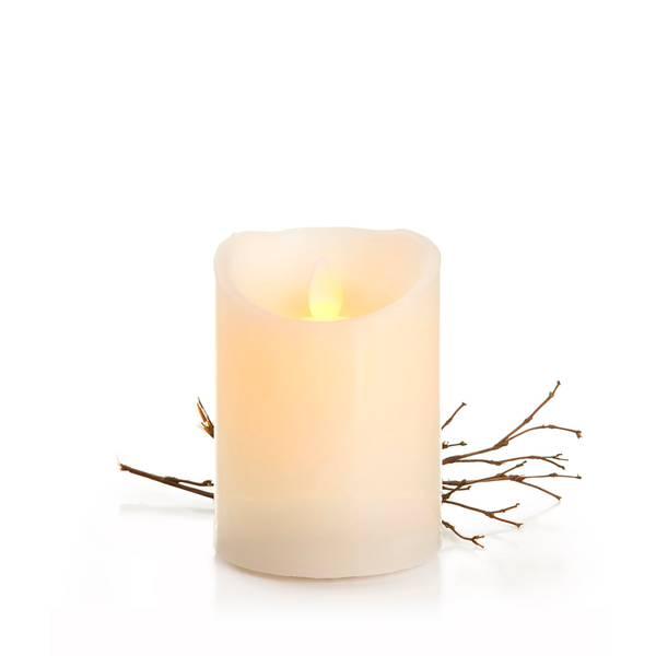 Bilde av Kubbelys med LED-lys og voksutside - 10 cm